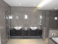 bathroom with double vanity unit